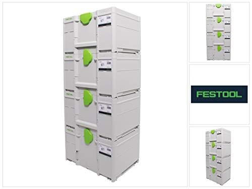 Festool Systainer Set 4x SYS3 M 237 (4x 204843) 21,4 Liter 396x296x237mm Werkzeugkoffer koppelbar