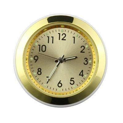 MTUP 2 in 1 Funktion Auto Ornament Lufterfrischer Innendekoration Leuchtende Uhr Auto Uhr Automotive Vents Clip Lufterfrischer (Color Name : Gold)