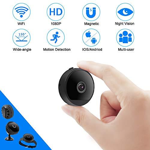 Mini Kamera WiFi TANGMI WLAN Überwachungskamera 1080P HD Wireless Mikro Nanny Cam Bewegungserkennung und Infrarot Nachtsicht