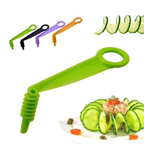 4 piezas creativas de zanahoria, patata, pepino, espiral, cortador de frutas y verduras, cortador giratorio para cortar herramientas de cocina