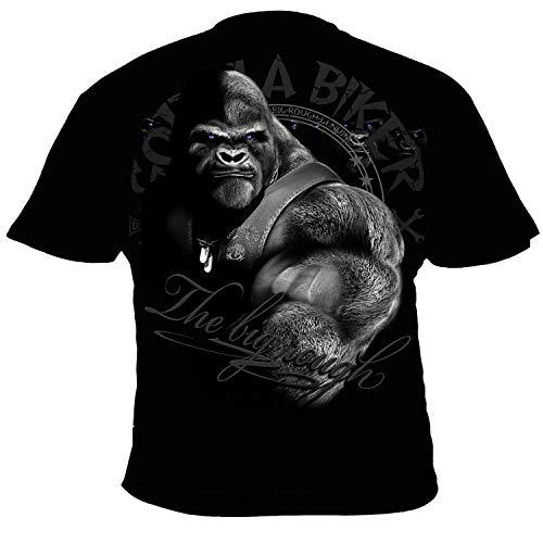 GB47 Gorilla Biker All for one Herren T-Shirt Farbe Schwarz, Größe XXL
