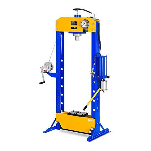MSW Presse d'Atelier Hydropneumatique MSW-WP-50T-P (Force de Pression Max. de 50 000 kg, Hauteur de Travail 60-1.100 mm, réglable en Hauteur sur 7 Positions)