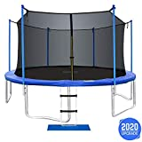 ORCC New Upgrade 15 14 12FT Trampoline for Kids Adults with Safety Enclosure Net Wind Stakes Rain...