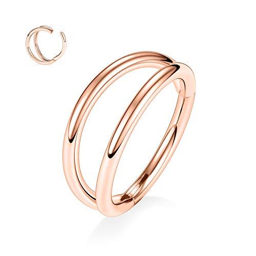hengkaixuan 16G Cartilage Conch Helix Earring Hoop 316L Surgical Steel Conch Helix Piercing Jewelry Helix Lobe Earrings Nose Ring