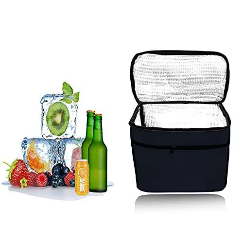 Kühltasche Faltbar,Picknicktasche Kühltasche,Thermotasche Klein,Isoliertasche Lunch,Kühltasche Eistasche,Lunch Tasche,Kühlbox für Picknick (schwarz)