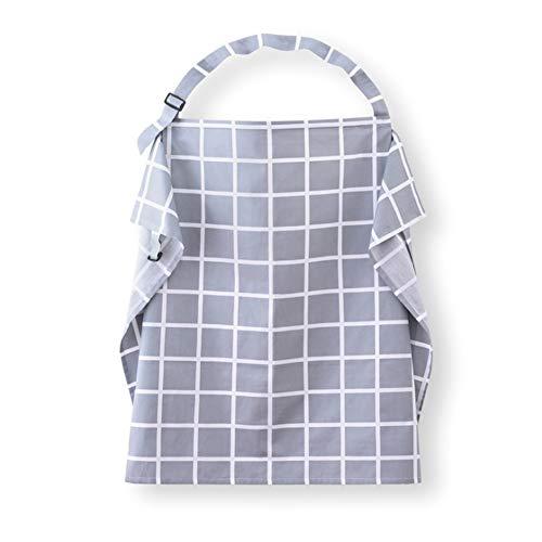 Vie privée d'allaitement Couverture d'allaitement Nourrir Tablier d'allaitement pour bébé Femmes Maman Châle Vêtements Nourrir Foulard Couvertures d'allaitement,GrayPlaid