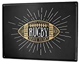 LEotiE SINCE 2004 Plaque en Métal Métallique Poster Mural tin Sign Nostalgique Platine Rugby à XV