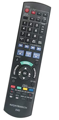ALLIMITY N2QAYB000234 Fernbedienung Ersetzen für Panasonic DVD Recorder DMR-EX81 DMR-EX768 DMREX81 DMREX768