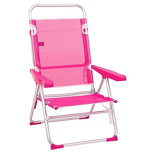 LOLAhome Silla de Playa con Brazos reclinable Rosa de...