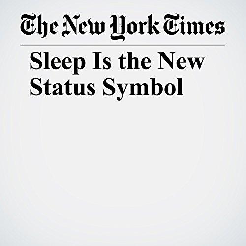 Sleep Is the New Status Symbol copertina