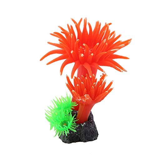 Coral de silicone, Ornamentos de aquário Silicone 3.5x3.1x1.1in Aquarium Silicone Coral, para aquário de aquário(MI126 red)