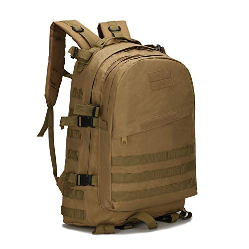 OASIS LAND 40L Outdoor Backpack Bag Rucksack Hiking Camping Tactic Backpacks Climbing Nylon Waterproof-Khaki-OneSize