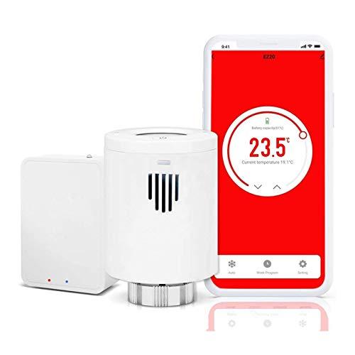 Evanell° Smart WLAN Heizkörperthermostat, Intelligenter Programmierbar Radiator Heizungsthermostat, Kompatibel mit Amazon Alexa und Google Home