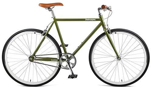 Retrospec Harper Single-Speed Fixed Gear Urban Commuter Bike, 49cm, s, Retrospec Sage Green