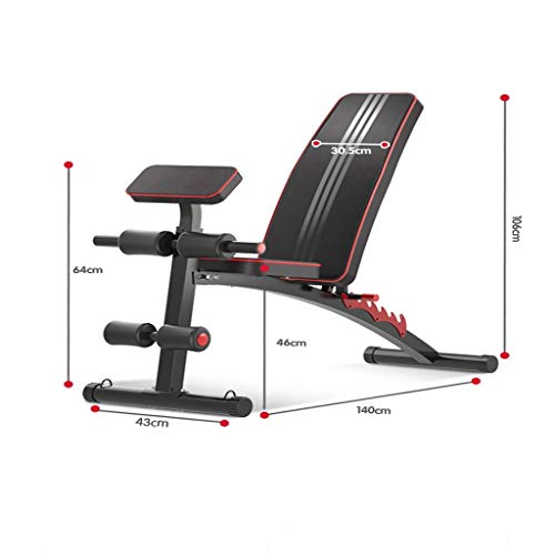 GLKTE-HYS-Weightlifting-Dumbbell-Bench-Multi-function-Household-Abdominal-Muscles-Fitness-Chair-Men-and-Women-Sit-ups-Supine-Board-Fitness-Equipment