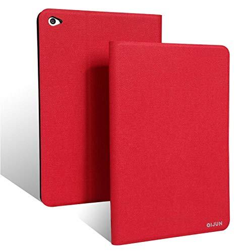 qq666 Für Asus Zenpad S 8.0 Hülle Z580 Z580C QIJUN Tablet Hülle für ZenpadS 8 Z580CA 8.0Slim Flip Cover WeicheSchutzhülle-Rot