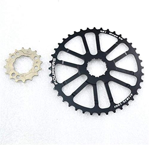 FSBD 10 Speed MTB 40T 42T Single Speed Rear Flywheel Tooth Slice Mountain Bike Bicycle Flywheel Include 16T and Long Screw Freewheels,Colour:40T red (Color : 40T Black)