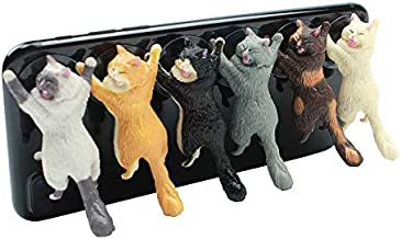 Great for Personal Use or As a Gift 40 Piece MHKBD Wooden Phone Stand Cell Phone Holder Desktop Cellphone Stand Universal Desk Stand for All Mobile Smart Phone Cat Cute Cell Phone Stand