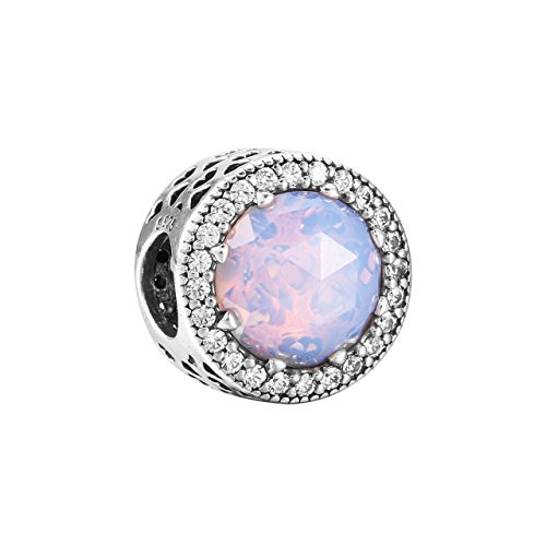 Pandora Color Rosa Cristal Bola de piedra Charm 791725NOP