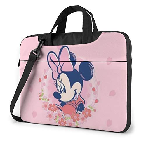 Mickey Mouse Minnie Mouse Laptop Sleeve Case Handheld One Shoulder Shockproof Oxford Protective Case/Notebook Computer Pocket Case/Tablet Briefcase Carrying Bag Compatible-15.6 inch
