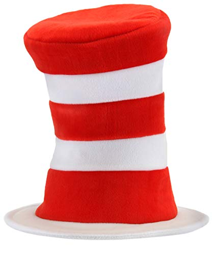 elope Dr Seuss Cat in the Hat Costume Hat Deluxe for Adults