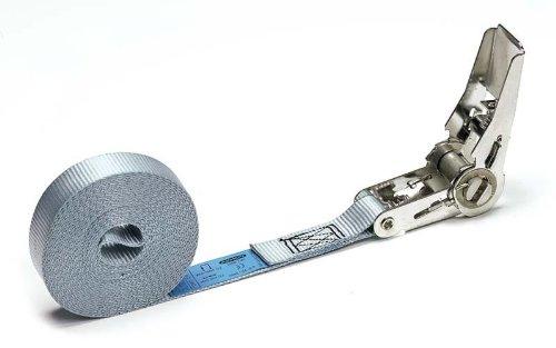 Cinta trincaje -Tie down - con tensor de acero inoxidable. Longitud 6m. Resistencia rotura real 5000 kg. 027042035503