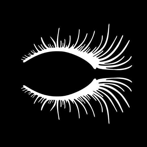 JKGHK 2 x Autoaufkleber für Wimpern, Lichter, Augenbrauen, Karosserie-Aufkleber, Auto-Tür, blockiert Kratzer, Schwarz / Silber
