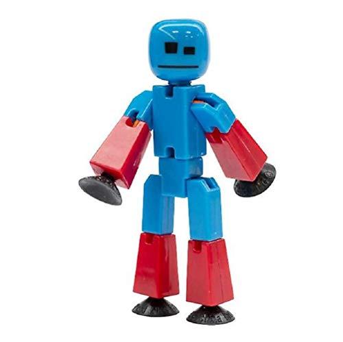StikBot Stop-Motion Animation Figur - Blau mit Rot