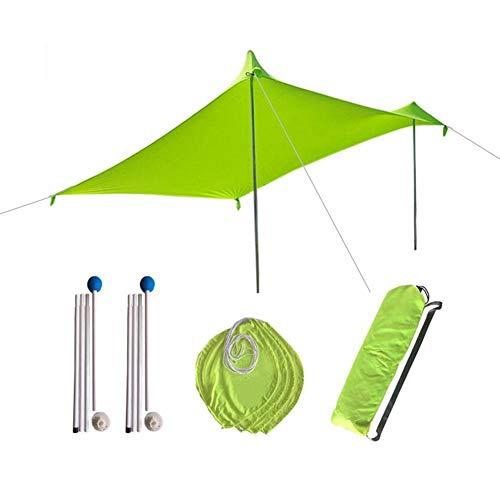 Sombrilla de playa Ligera Carpa para el sol portátil Sombrilla para exteriores con bolsa de arena Lycra UV Toldo para familias grandes Fácil de usar para pesca al aire libre Camping