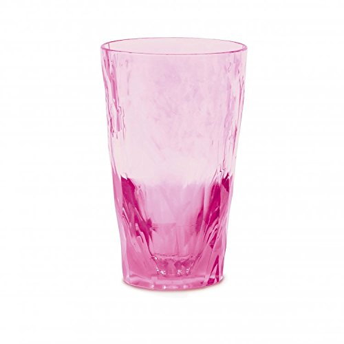 koziol Longdrink Glas 300ml CLUB NO. 6, Superglas, transparent pink