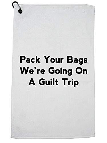 Hollywood draad pak je tassen we gaan op een schuldgevoel reis Golf handdoek met karabijnhaak clip