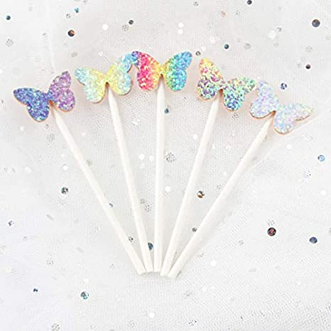 9PCS Balloon Cake Gift Box Set Hot Air Balloon Cake Top Hat Rainbow Balloon Cake Toppers Cloud Cake Suitable for Wedding Baby Shower Birthday Party Decorations Happy Birthday Cake Decoration