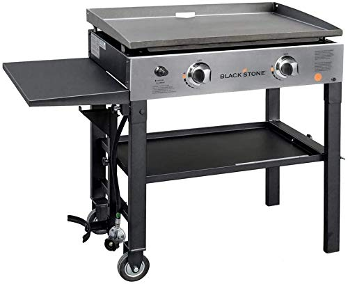 Blackstone 28' Stinless Steel Front Panel Gridlle Cooking Station, Black
