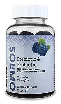 Amazon Brand - Solimo Prebiotic & Probiotic 2 Billion CFU 50 Gummies  2 Gummies per Serving