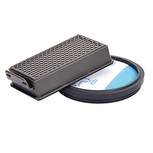 Kit de filtres HEPA pour Rowenta Kit de filtration,INTVN Kit de filtres Les aspirateurs,HEPA Filtre à air d'échappement,Pour Rowenta RO3715,RO3795,RO3798.