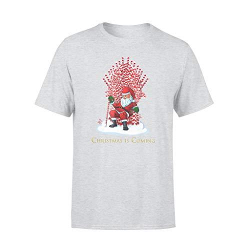 Leet Group Camiseta de Papá Noel con diseño de trono de bastón de caramelo