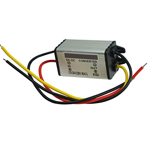 Proshopping DC Converter Regulator, 12V Step Down to 6V 6A 36W Voltage Reducer, DC/DC Power Supply Module Buck Transformer, Waterproof - for Car Truck Vehicle Boat