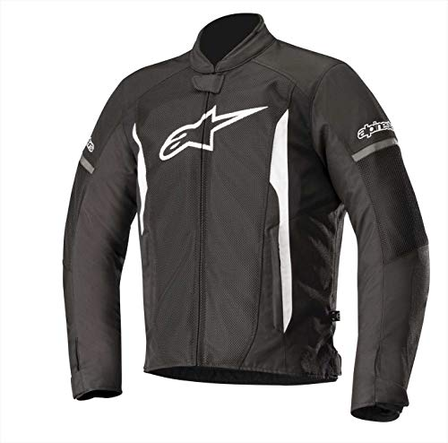Alpinestars Men's T-Faster Air Motorcycle Jacket, Black/White, Medium