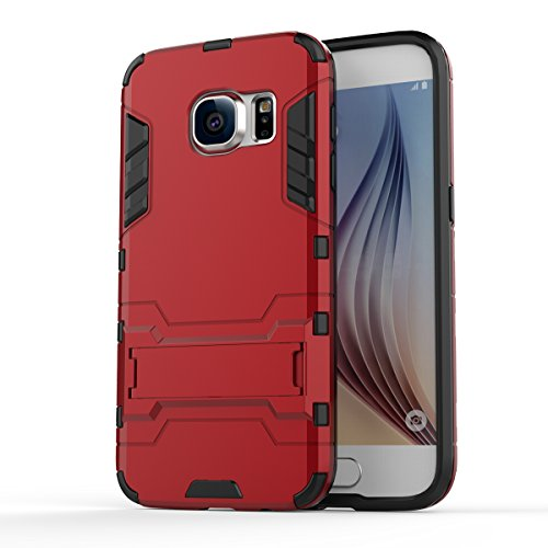 Cocomii Iron Man Armor Galaxy S7 Case, Slim Thin Matte Vertical & Horizontal Kickstand Reinforced Drop Protection Fashion Phone Case Bumper Cover Compatible with Samsung Galaxy S7 (Red)