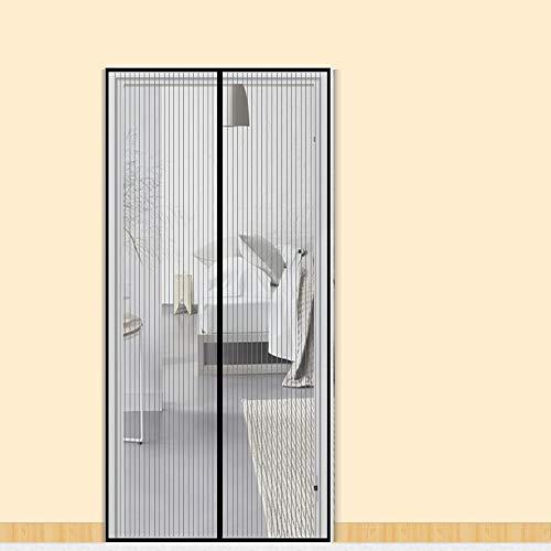 Zalava Mosquitera magnética para puerta de balcón, salón o patio, puerta de 100 x 210 cm, 120 x 240 cm, 160 x 230 cm, fácil de instalar, sin necesidad de taladrar, negro