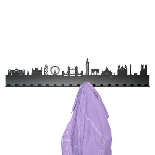 Radius Porte-Manteaux à Suspendre Motif London Noir