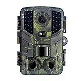 LXLTL Cámara de Caza Nocturna 20MP 1080P con Rango de Detección de 120 ° Detección de Acción Camara Fototrampeo Caza con 32pcs LEDInfrarrojo y Impermeable IP66 para Vigilancia de la Fauna