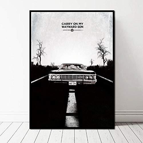 TELEGLO (No Frame) 50 * 70cm Heiße TV-Serie Drama Film Supernatural Art Canvas Poster Wandbild für Wohnzimmer