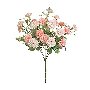 Silk Flower Arrangements Artificial and Dried Flower Simulation of Small Flowers 5 Forks 20 Flowers Silk Bouquet Small Lilac Wedding Home Decoration Fake Flowers Accessories - ( Color: Multi)