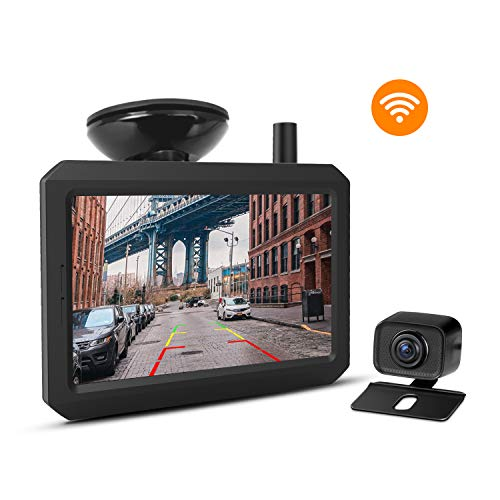 Wireless Backup Camera Kit with Digital Signal, IP68 Waterproof Rear View Camera with 5″ TFT-LCD Monitor BOSCAM K7 Ideal for Sedans, Pickup Truck, Minivans
