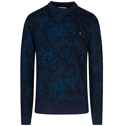 FARAH® Warwick Cotton Rain Camouflage Crew Neck Sweatshirt Herren Sweatshirt Pullover yale L