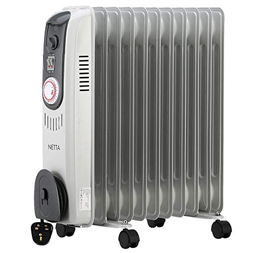 NETTA Oil Filled Radiator 2500W Portable Electric Heater