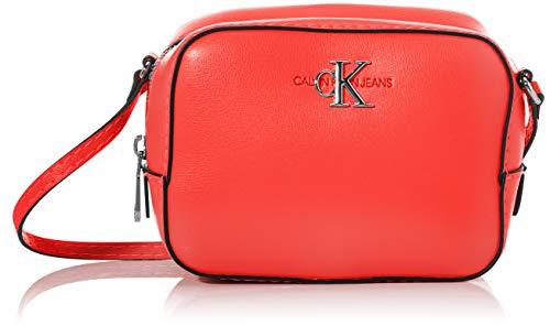 Calvin Klein - Ckj Mono Hardware Camera Bag, Bolsos bandolera Mujer, Rojo (Racing Red), 1x1x1 cm (W x H L)
