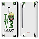 Head Case Designs Officially Licensed Emoji Jamaica I Love My Country Leather Book Wallet Case Cover Compatible with Samsung Galaxy Tab S6 (2019)