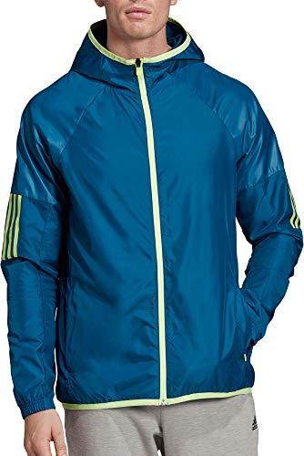 adidas Men's Sport 2 Street Windbreaker Jacket - Legend Marine/Hi Res YEL, Small